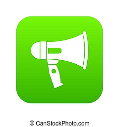 Mouthpiece icon digital green