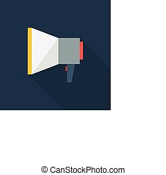 Mouthpiece icon , Flat design style, vector illustration. long shadow icon.