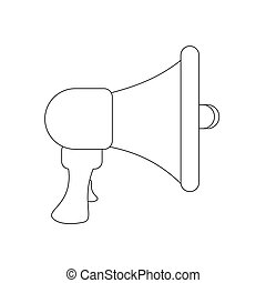 Mouthpiece illustration vector on the white background....