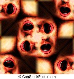 Mouths Seamless Pattern Background