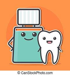 Mouthwash hugs tooth.