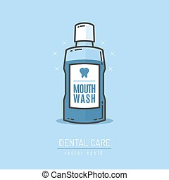 Mouthwash bottle vector illustration