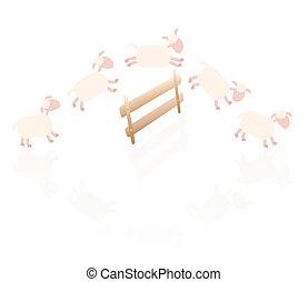 mouton, comique, dénombrement