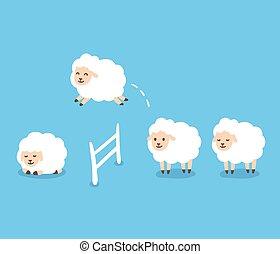 mouton, dénombrement, illustration