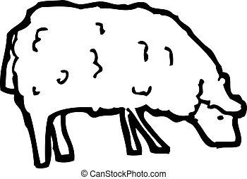 Mouton dessin anim mouton mignon sur ciel trois - Mouton dessin anime ...