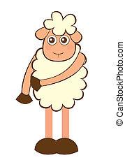 Mouton dessin anim mouton mignon sur isol arri re - Mouton dessin anime ...