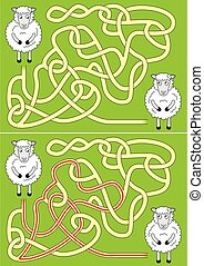mouton, labyrinthe