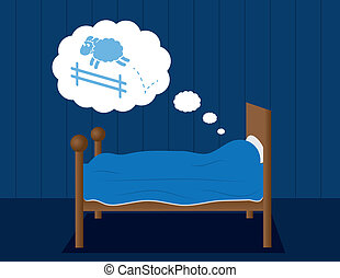 mouton, lit, rêver