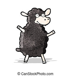 Mouton noir dessin anim mouton isoler arri re plan - Mouton dessin anime ...