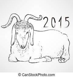mouton, nouveau, chinois, année