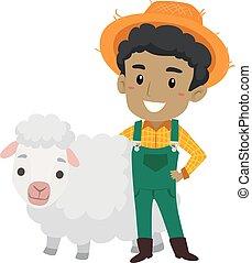 mouton, paysan