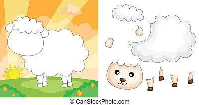 mouton, puzzle