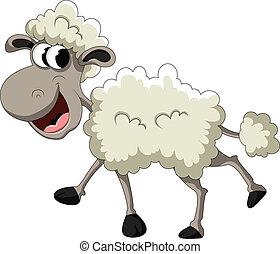 mouton, rigolote, dessin animé