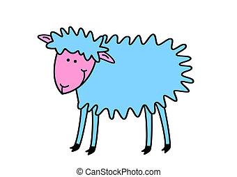 mouton, rigolote