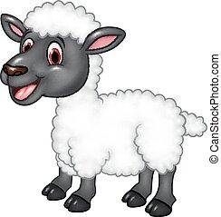 Vecteur de mouton heureux poser isol dessin anim - Mouton dessin anime ...