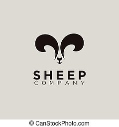 mouton, silhouette, noir