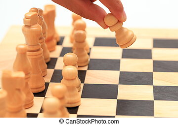 mouvement, -, échecs, premier