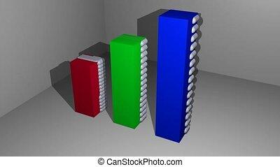 mouvement, éléments, spatial, sphère, bleu, gris, arrière-...
