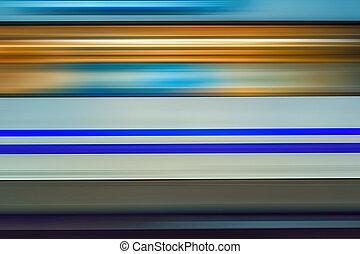 mouvement, élevé, train, métro, barbouillage, vitesse