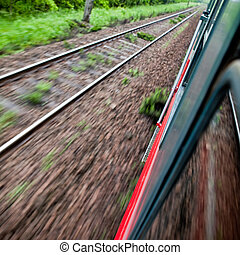 mouvement, équitation, train, jeûne, barbouillage
