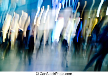 mouvement, affaires gens, résumé, fond, barbouillage