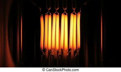 mouvement, ampoule, lumière, lent