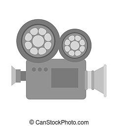 mouvement, appareil photo, vidéo, pellicule
