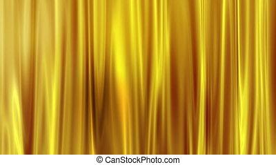 mouvement, arrière-plan doré, rideau
