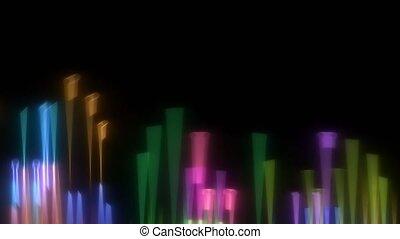 mouvement, bas, lumières, barbouillage, arc-en-ciel, haut, ...