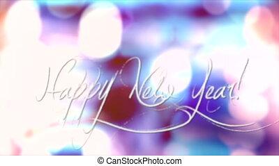 mouvement, bokeh, fond, année, nouveau, heureux