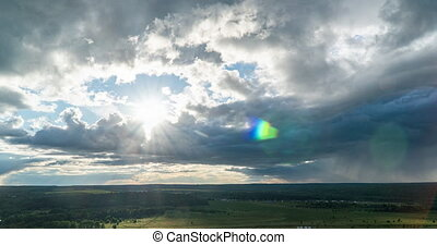 mouvement, boucle, nuages, intervals, niveaux, simultané, ...