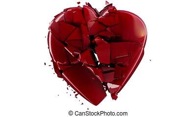 mouvement, coeur, explosion, lent
