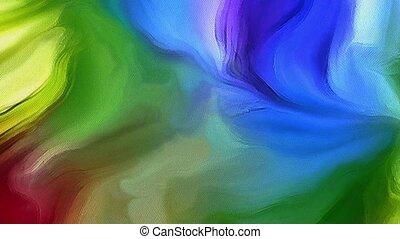 mouvement, couleur, lignes, fluide