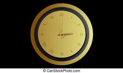 mouvement, défaillance, barbouillage, horloge, temps