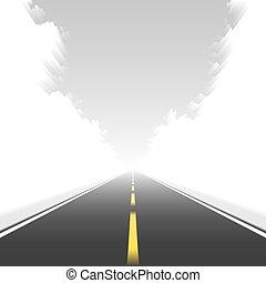 mouvement, directement, route