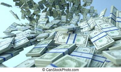 mouvement, dollar, nous, lent, couler, paquets