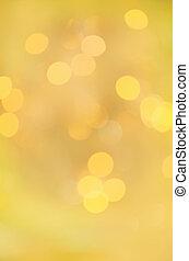 mouvement, doré, bokeh, lumière, arrière-plan.
