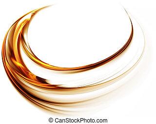 mouvement, doré, rotation, tourbillon, dynamique