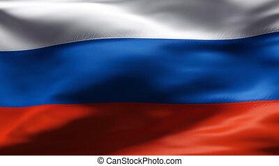 mouvement, drapeau russie, lent