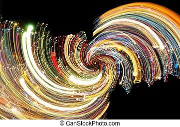 mouvement, effet lumière