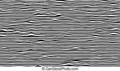 mouvement, engendré, rendering., blanc, boucle, horizontal, animation., lignes, arrière-plan., 3d, noir, informatique