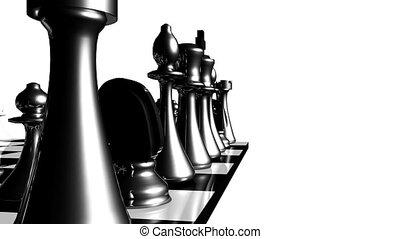 mouvement, ensemble, animation, échecs