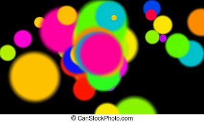 mouvement, fond couleur, disco, modèle cercle