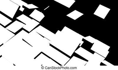 mouvement, forme, rectangulaire, géométrique, éléments
