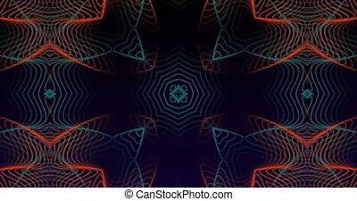 mouvement, formes, contre, résumé, fond, en mouvement, hypnotique, animation, noir
