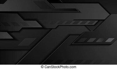 mouvement, géométrique, arrière-plan noir, technologie, ...