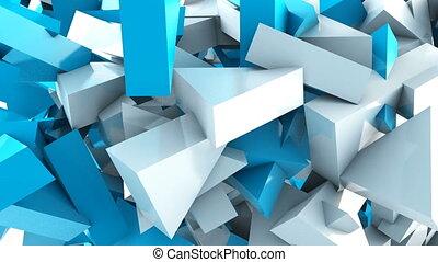 mouvement, géométrique, forme triangle, fond