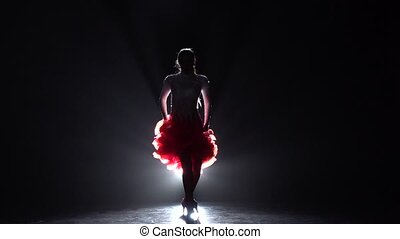 mouvement, girl, lent, latino., danse