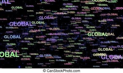 mouvement, global, graphiques, concept