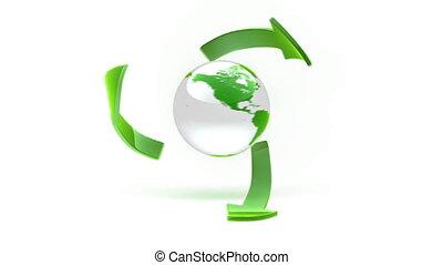 mouvement, icône, eco